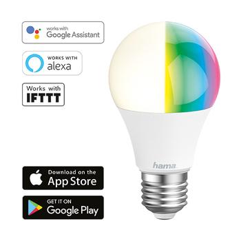 Hama Lampadina Wi-Fi LED − E27, 10W, RGB